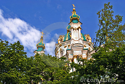 Orthodox Church Domes in Kiev Ukraine