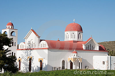 Orthodox church in Engares village, Naxos, Greece