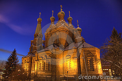 Orthodox Church At Night