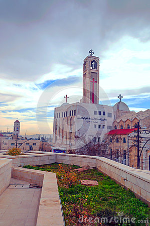 Free Orthodox Church Of Amman Royalty Free Stock Photography - 56460187