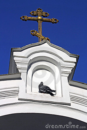 Orthodox cross on an input