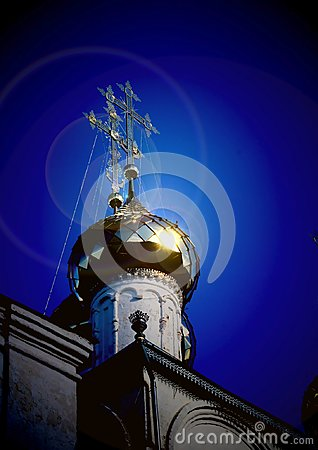 Free Orthodox Cross On The Dome Of The Annunciation Cathedral. Royalty Free Stock Photo - 106722265
