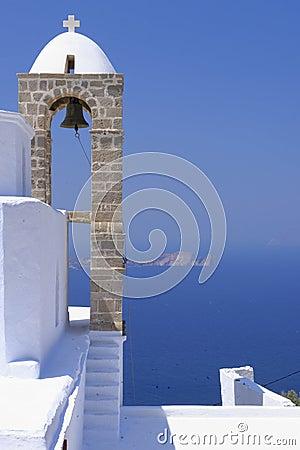 Orthodox Greek church bell tower