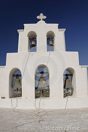 Orthodox Greek church bell tower