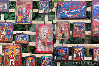 Orthodox icons on wood