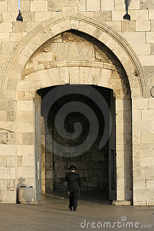 Orthodox jew at the jaffa gate