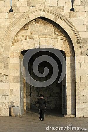 Orthodox jew at the jaffa gate