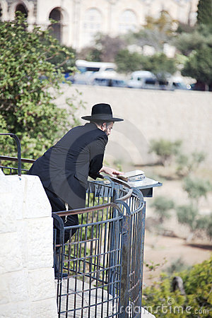 Orthodox Jewish man parrying Editorial Image