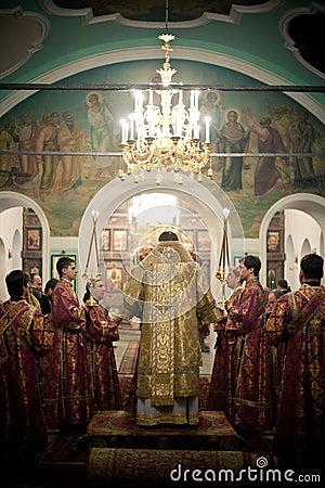 Free Orthodox Liturgy With Bishop Stock Photo - 21285560