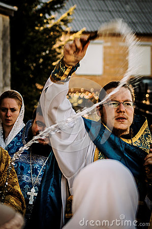 Free Orthodox Priest During The Procession In The Kaluga Region In Russia. Royalty Free Stock Images - 70689409