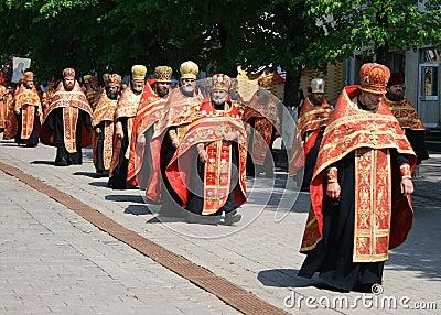 Orthodox priests Editorial Image