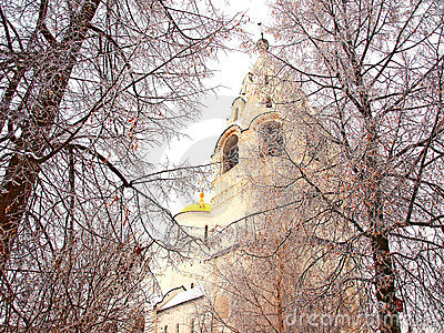 Orthodox Russia. Ancient cathedral in a Pokrovskiy
