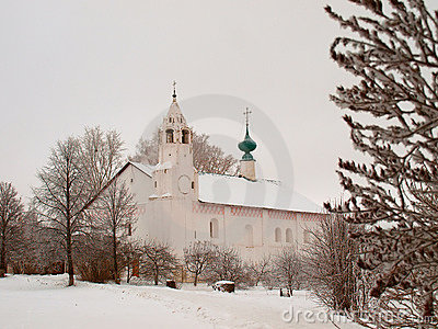 Orthodox Russia. Ancient Zachatievskaia church in