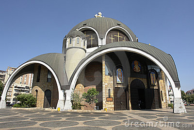 Orthodox temple in a modernist style