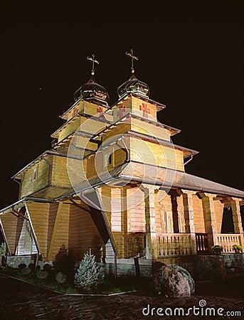 Orthodox wooden church.