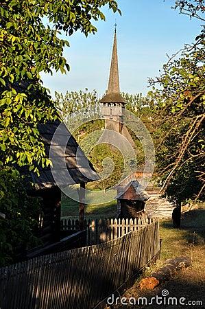 Orthodox wooden monastery