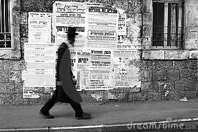 Orthodoxe Jood in Mea Shearim Redactionele Stock Foto
