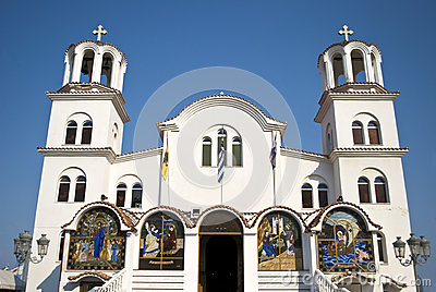 Orthodoxy church in Paralia, Greece