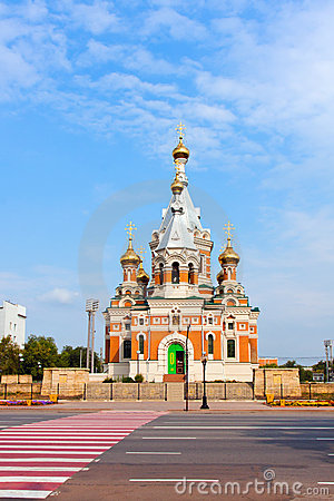 Free Orthodoxy Church  In Uralsk, Kazakhstan Royalty Free Stock Photos - 22779948