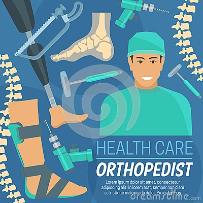 Free Orthopedic Poster Orthopedist And Prosthetic Items Royalty Free Stock Photos - 121371238