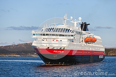 Orwegian passenger cruise ship MS Polarlys Editorial Photography