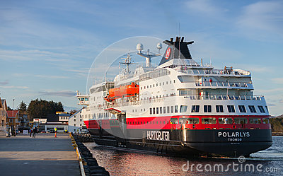 Orwegian passenger cruise ship MS Polarlys Editorial Image