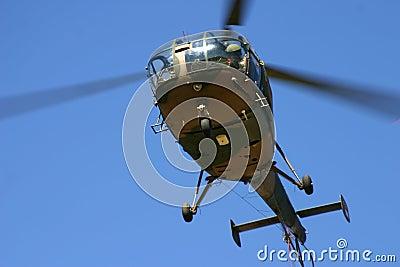 Oryx helicopter overhead