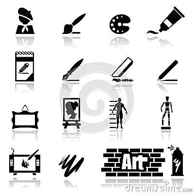 Os ícones ajustaram artes