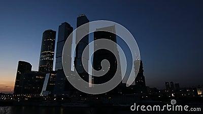 Os arranha-céus de Moscou vídeos de arquivo