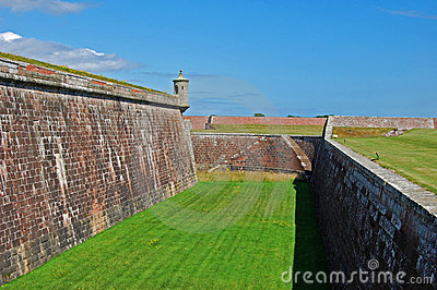Os battlements do forte George, Scotland