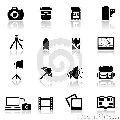 Os ícones ajustaram a fotografia