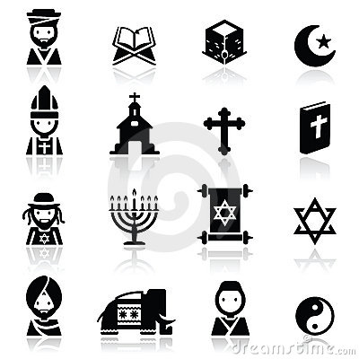 Os ícones ajustaram religiões