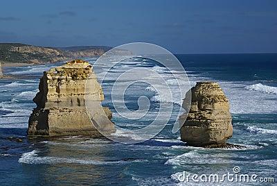 Os doze apóstolos (grande estrada do oceano, Austrália)