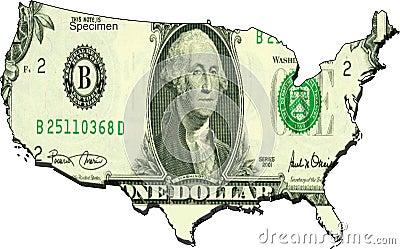 Os estados unidos do dólar