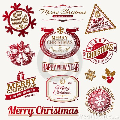 Os feriados do Natal simbolizam e etiquetas