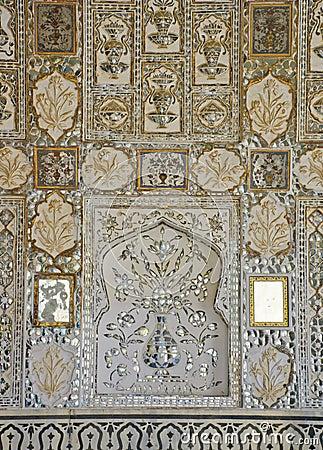 Os mosaicos do espelho decoram