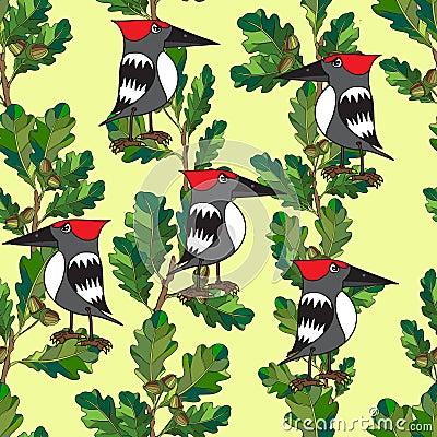 Os pássaros pequenos cantam canções. Textura sem emenda.