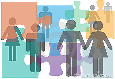 Os pares da assistência de união escolhem povos do divórcio