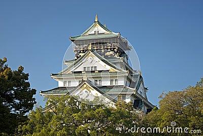 Osaka castle landmark in japan