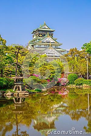 Free Osaka Castle Reflecting Stock Image - 92530421