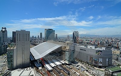 Osaka Station and Umeda Cityscape Editorial Photography