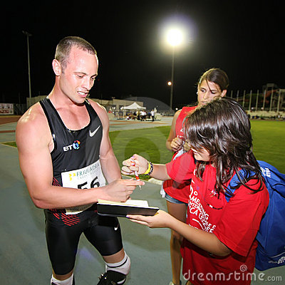 Oscar Pistorius wins Editorial Image