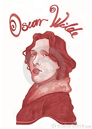 Oscar Wilde Sketch Redactionele Stock Foto