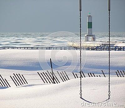 Oscillation dans la neige