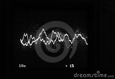 Oscilloscope trace to music