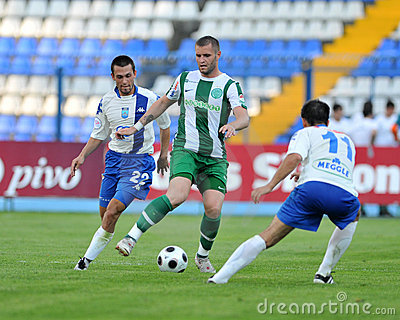 Osijek - Ferencvaros soccer game Editorial Photography