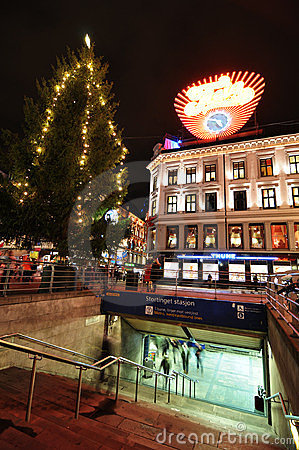 Oslo by night Editorial Image