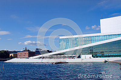 Oslo Opera view from fjord Editorial Image