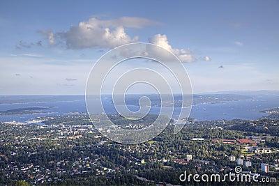 Oslo view from Holmenkollen (HDR)