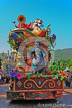 Oso de Baloo en el desfile de Disney Imagen de archivo editorial